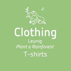 Rainforest Rescue Clothing Leunig Plant a Rainforest Design on Green and Blue T-shirts