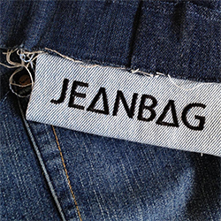 Jeanbag Recycled Jeans destined for landfill transformed into beautiful products for your home.Product partners Rainforest Rescue